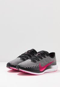 Nike Performance - ZOOM PEGASUS TURBO 2 - Neutrala löparskor - black/pink blast/atmosphere grey/white - 2
