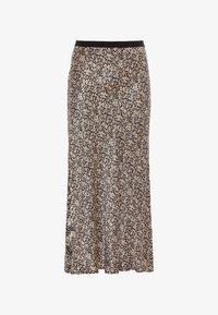 HALLHUBER - MIT MILLEFLEURS-PRINT - A-line skirt - schwarz - 4