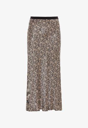 MIT MILLEFLEURS-PRINT - A-line skirt - schwarz