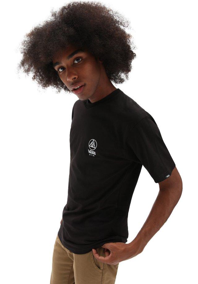 MN THREE POINTS SS - T-shirt print - black