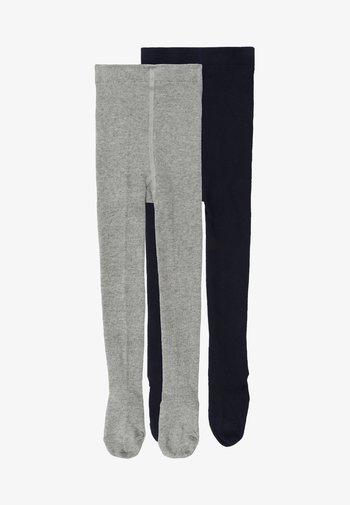 2 PACK - Tights - light grey/navy