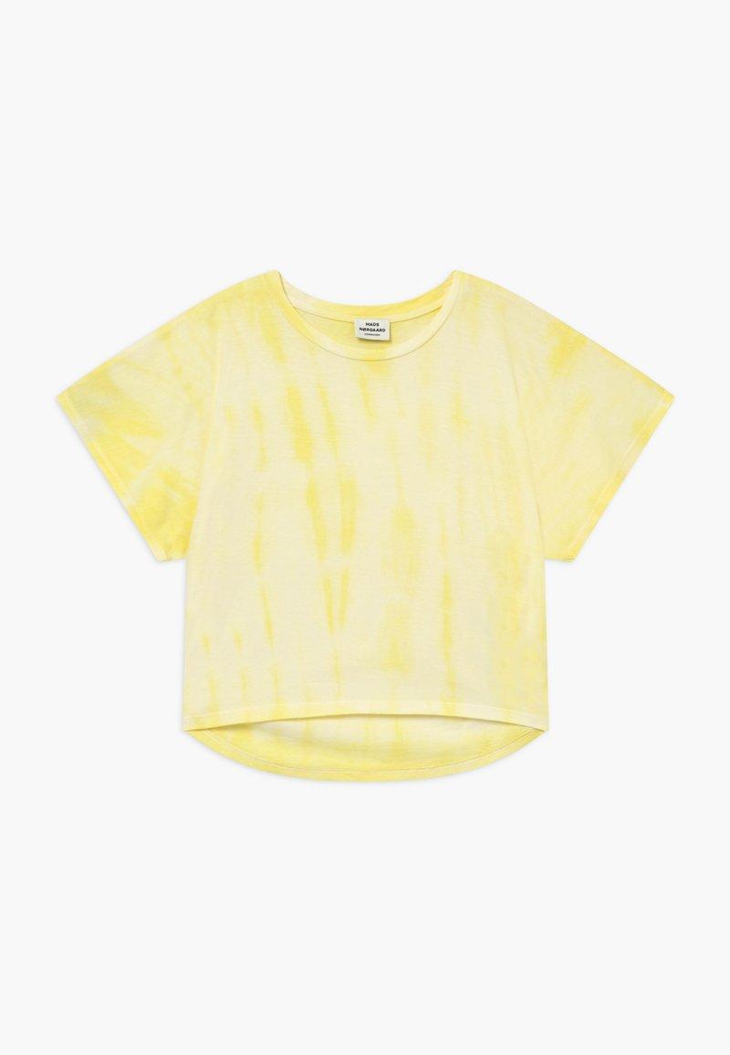 Mads Nørgaard - TOPININA - Print T-shirt - soft yellow
