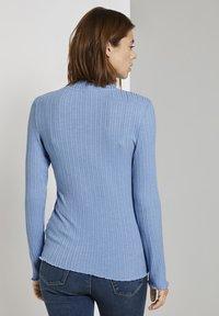 TOM TAILOR DENIM - Long sleeved top - summer blue - 2