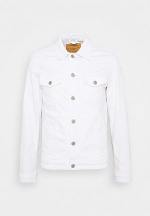JJIALVIN JJJACKET - Denim jacket - white denim