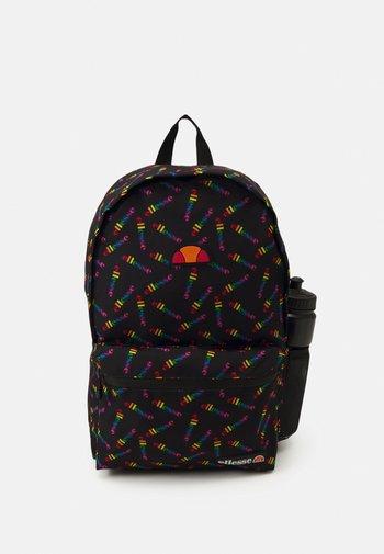 ERINO BACKPACK & WATER BOTTLE SET UNISEX - Rucksack - black/multi-coloured