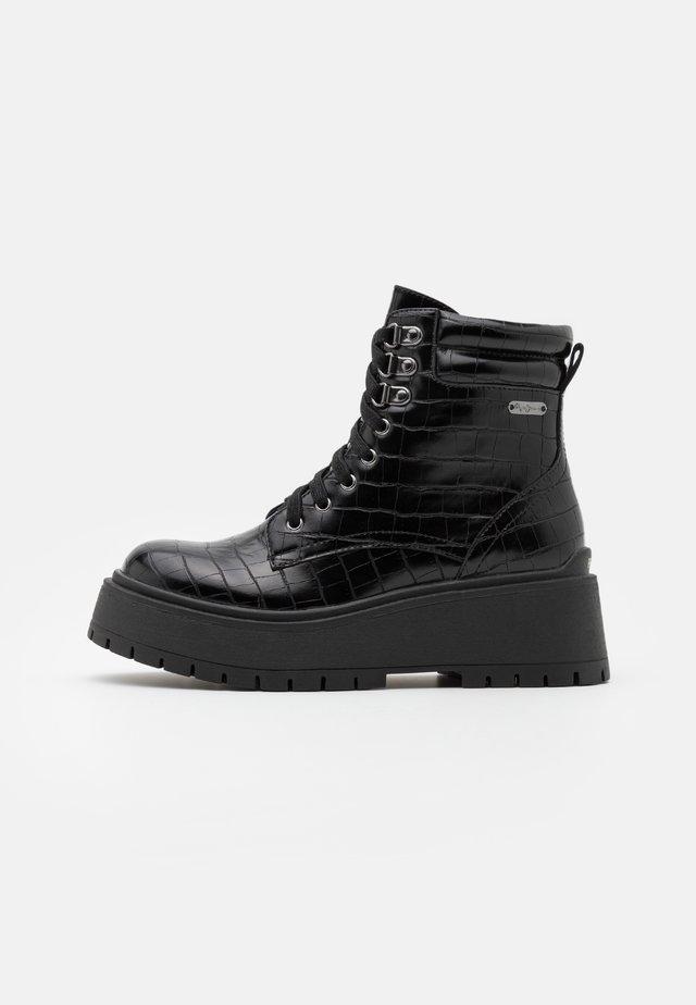 BOBBING  - Platform ankle boots - black