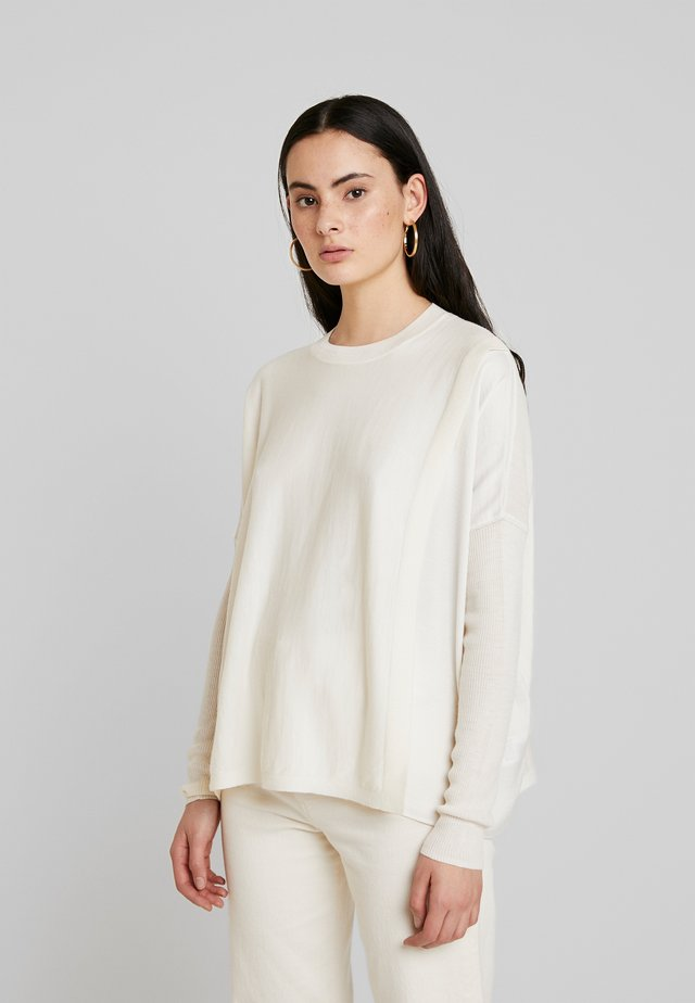 KOKO WRAP CREW NECK - Neule - chalk white
