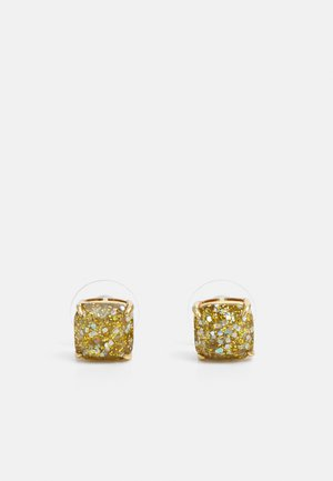 MINI SMALL SQUARE STUDS - Earrings - gold-coloured