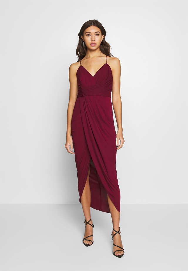 CHARLOTTE DRAPE MAXI DRESS - Occasion wear - red shiraz