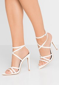 Miss Selfridge - SLOANE STRAPPY POINTED TOE  - High heeled sandals - white - 0