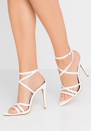 SLOANE STRAPPY POINTED TOE  - High heeled sandals - white