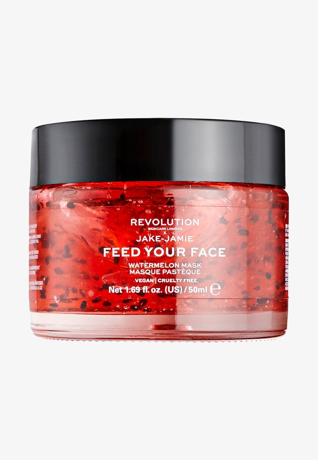 REVOLUTION SKINCARE X JAKE – JAMIE WATERMELON HYDRATING FACE MASK - Face mask - -