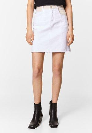 Jeansrok - white