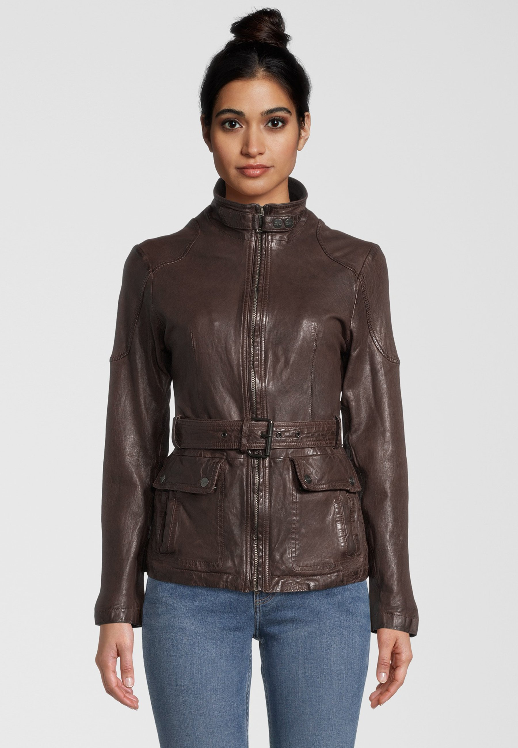 Femme BE KIND - Veste en cuir