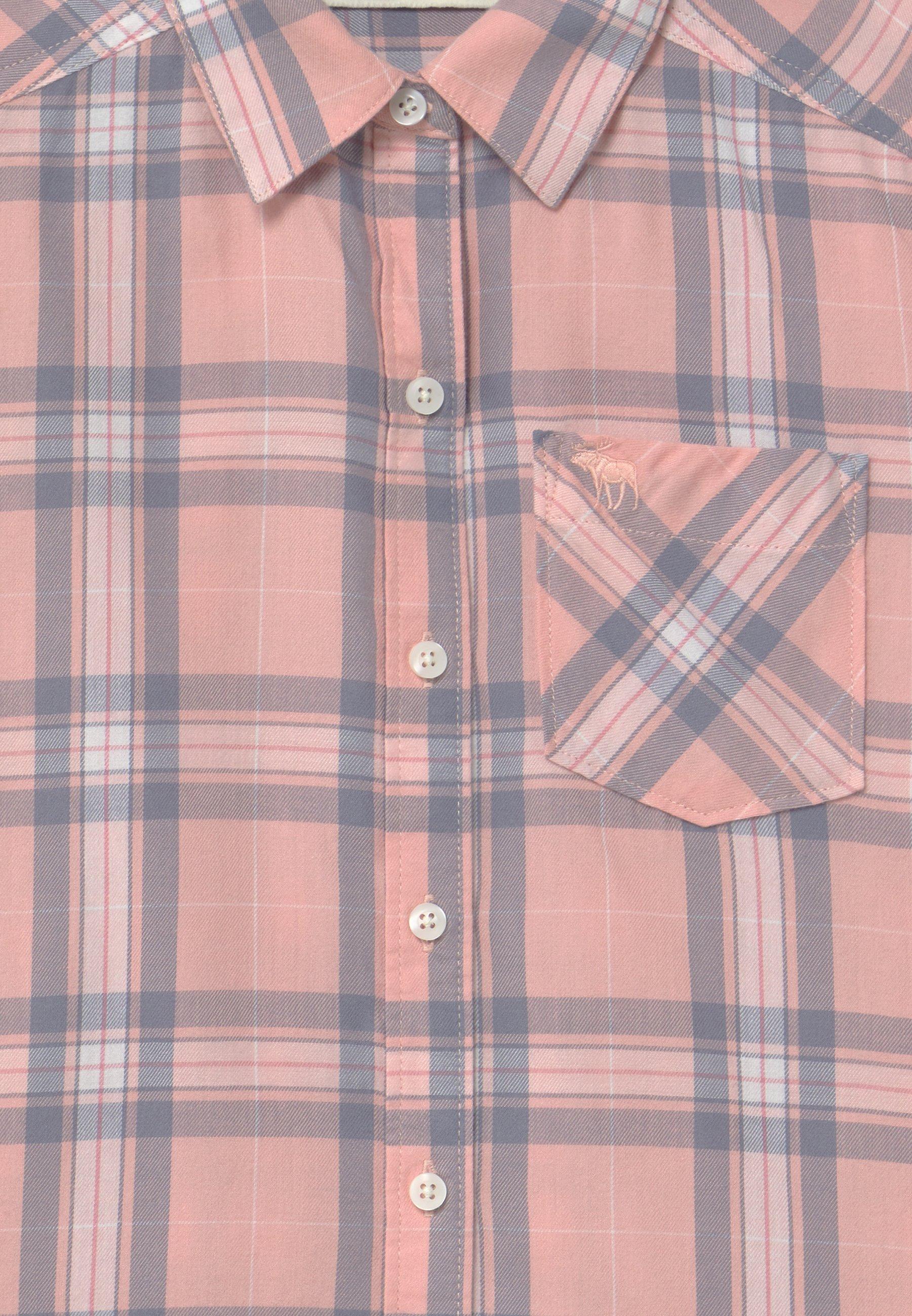 Abercrombie & Fitch Koszula - pink plaid - Ubranka dla dzieci