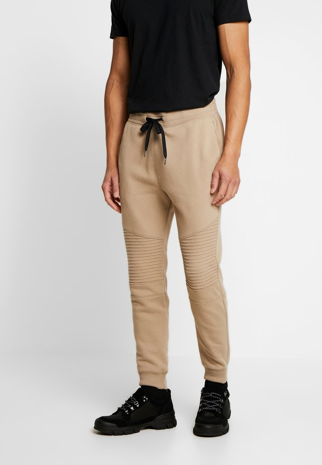 MOTO JOGGER - Pantalones deportivos - chinchilla