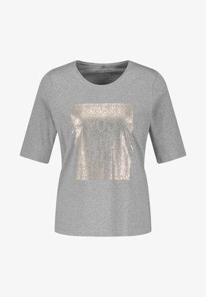 MIT FRONTPRINT GOTS - Print T-shirt - grey melange