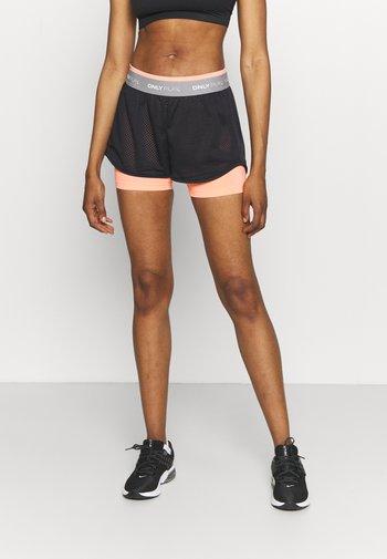 ONPMALIA LOOSE TRAIN SHORTS - Sports shorts - neon orange/blue graphite