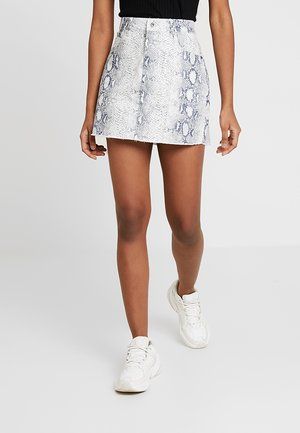 LADIES ANIMAL STRETCH SKIRT - Falda acampanada - offwhite