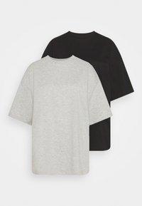 black/mottled light grey