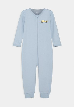 NBMNIGHTSUIT ZIP DUSTY - Pyjamas - dusty blue