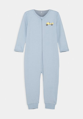 NBMNIGHTSUIT ZIP DUSTY - Pyjamas - dusty blue