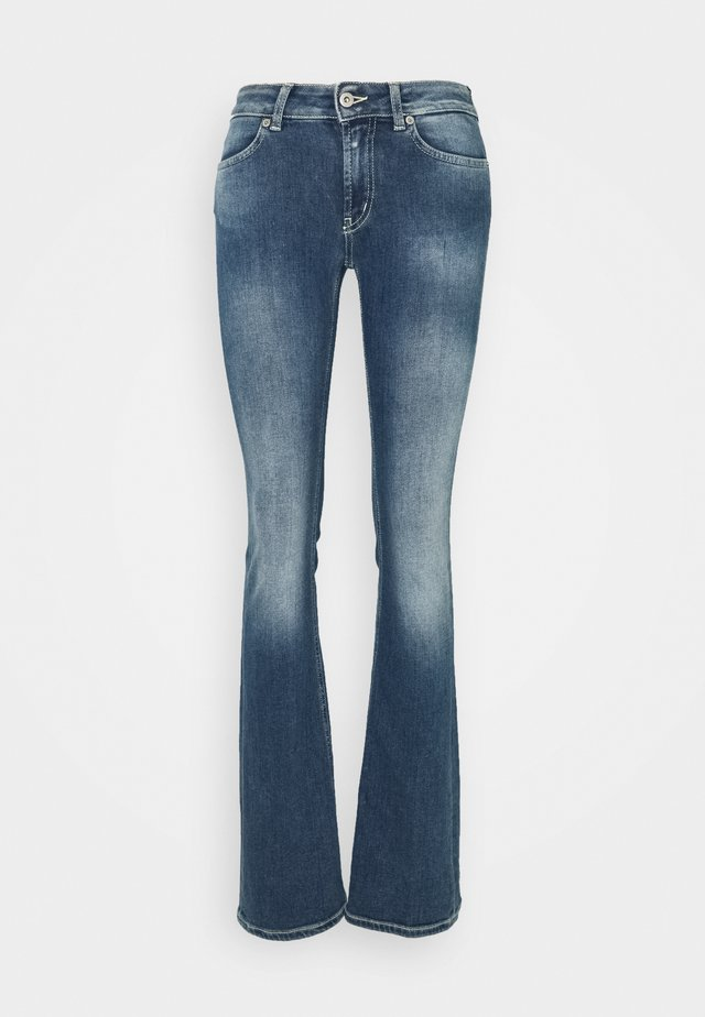 LOLA - Bootcut jeans - blue denim