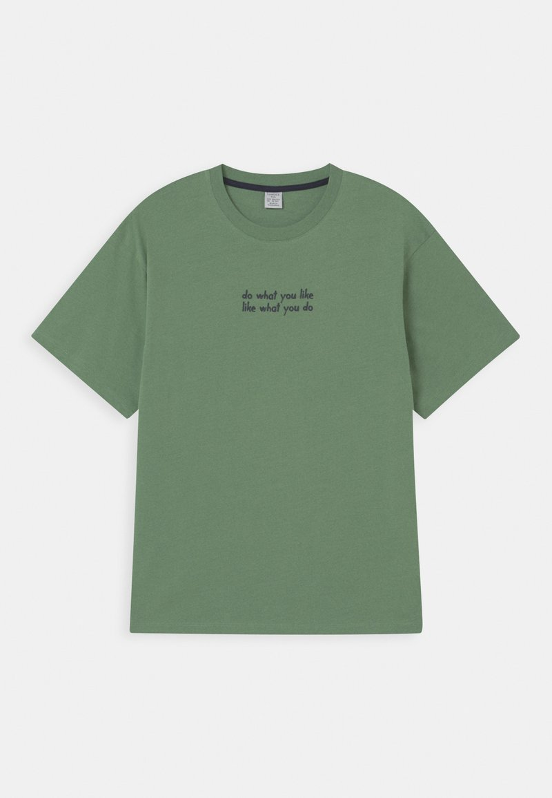 Lindex - OVERSIZE 2 PACK - Print T-shirt - light green