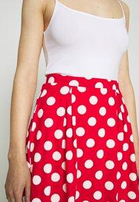 Even&Odd - A-snit nederdel/ A-formede nederdele - goji berry/white - 5