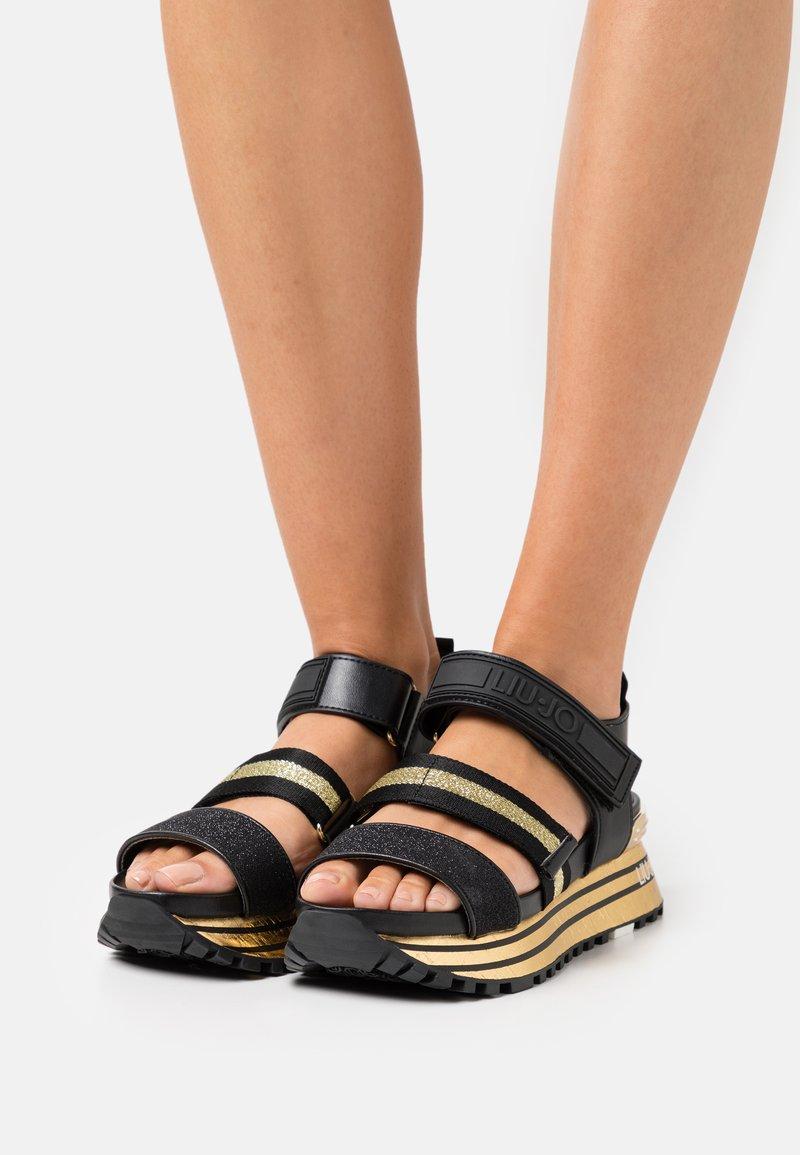 Liu Jo Jeans - MAXI - Sandały na platformie - gold