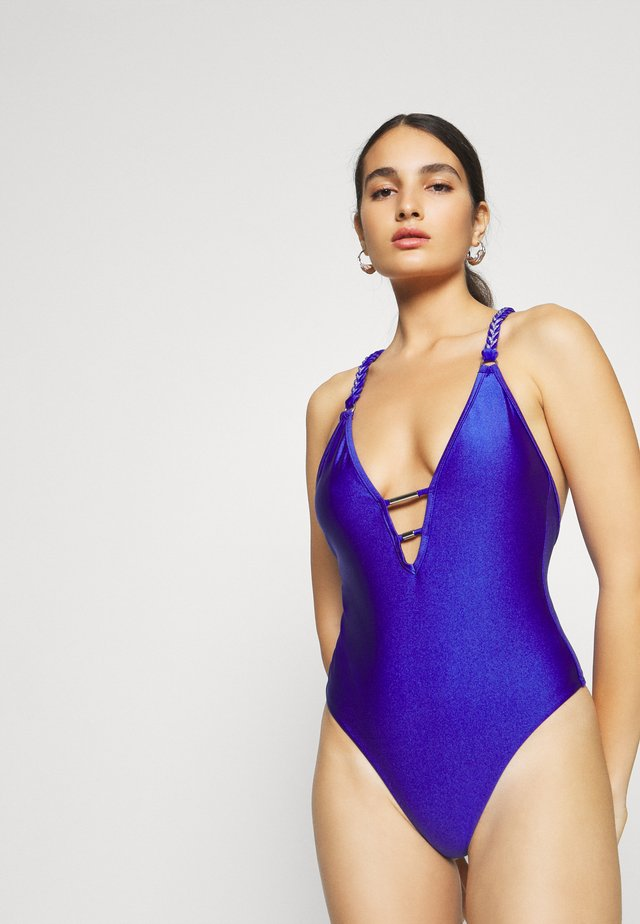 THE MIDNIGHT DIP SWIMSUIT - Maillot de bain - cobalt