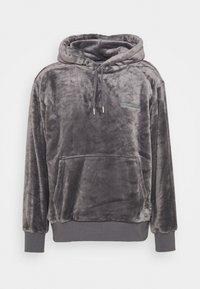 Topman - GREY LOGO TEDDY HOOD - Sweatshirt - grey - 3
