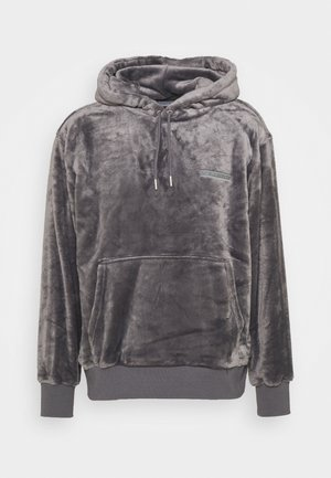 GREY LOGO TEDDY HOOD - Sudadera - grey
