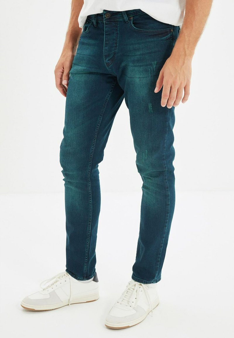 Trendyol - Jean slim - navy blue