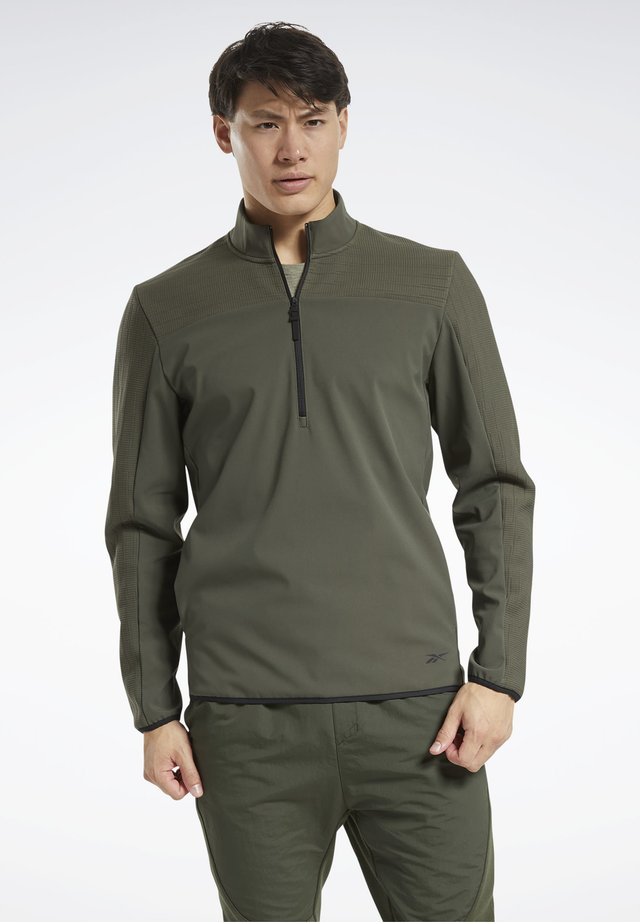 THERMOWARM DELTAPEAK QUARTER-ZIP - Sweatshirt - green