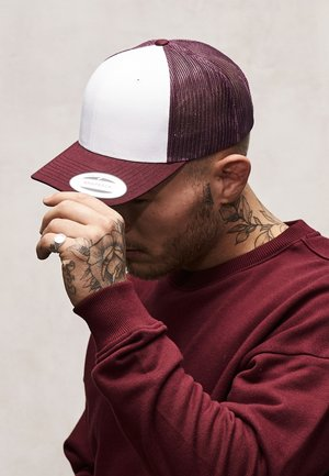 RETRO TRUCKER - Gorra - maroon/white
