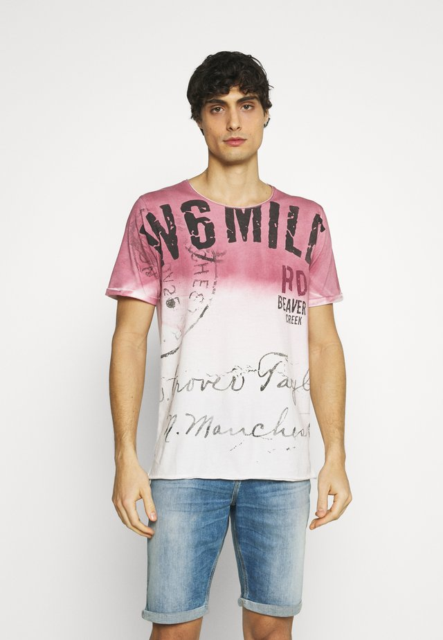 T-shirt con stampa - dusty red