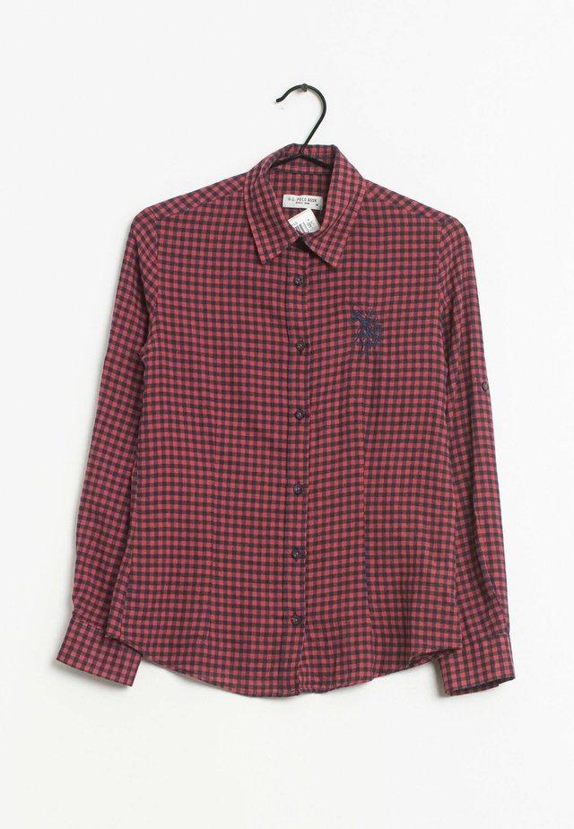 Overhemdblouse - dark red