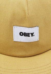 Obey Clothing - BOLD LABEL SNAPBACK UNISEX - Kšiltovka - almond - 3