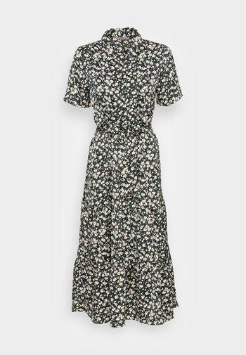 WOVEN BLOUSE DRESS - Skjortekjole - black/white