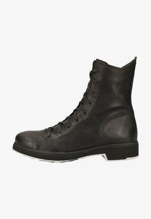 Platform ankle boots - schwarz 0000