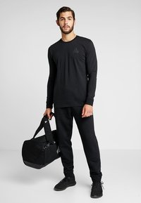 adidas Performance - TAN LOGO TEE - Langærmede T-shirts - black - 1