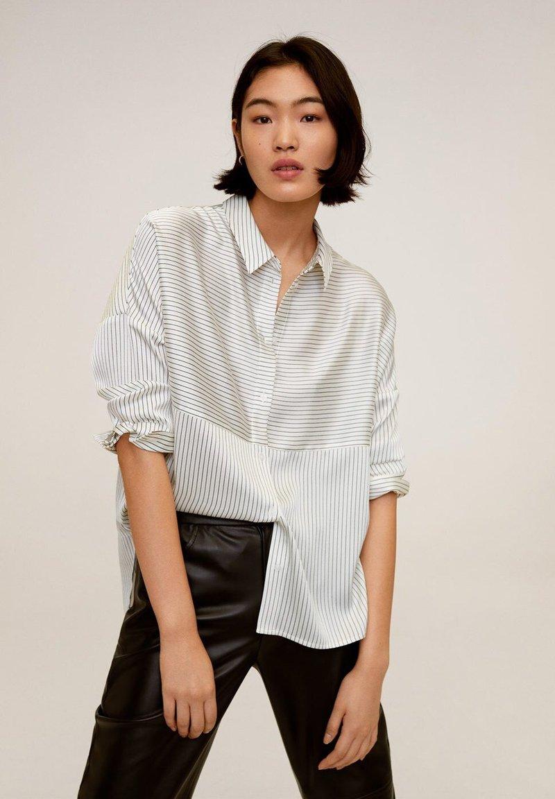 Mango - PAYITA - Button-down blouse - cremeweiß