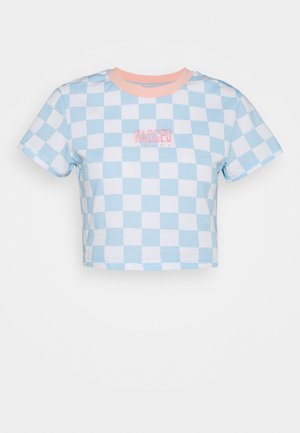 FLOCK TEE - Camiseta estampada - blue/white