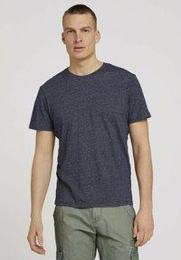 TOM TAILOR - Basic T-shirt - sailor blue grindle melange - 0