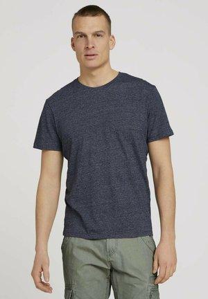 Basic T-shirt - sailor blue grindle melange