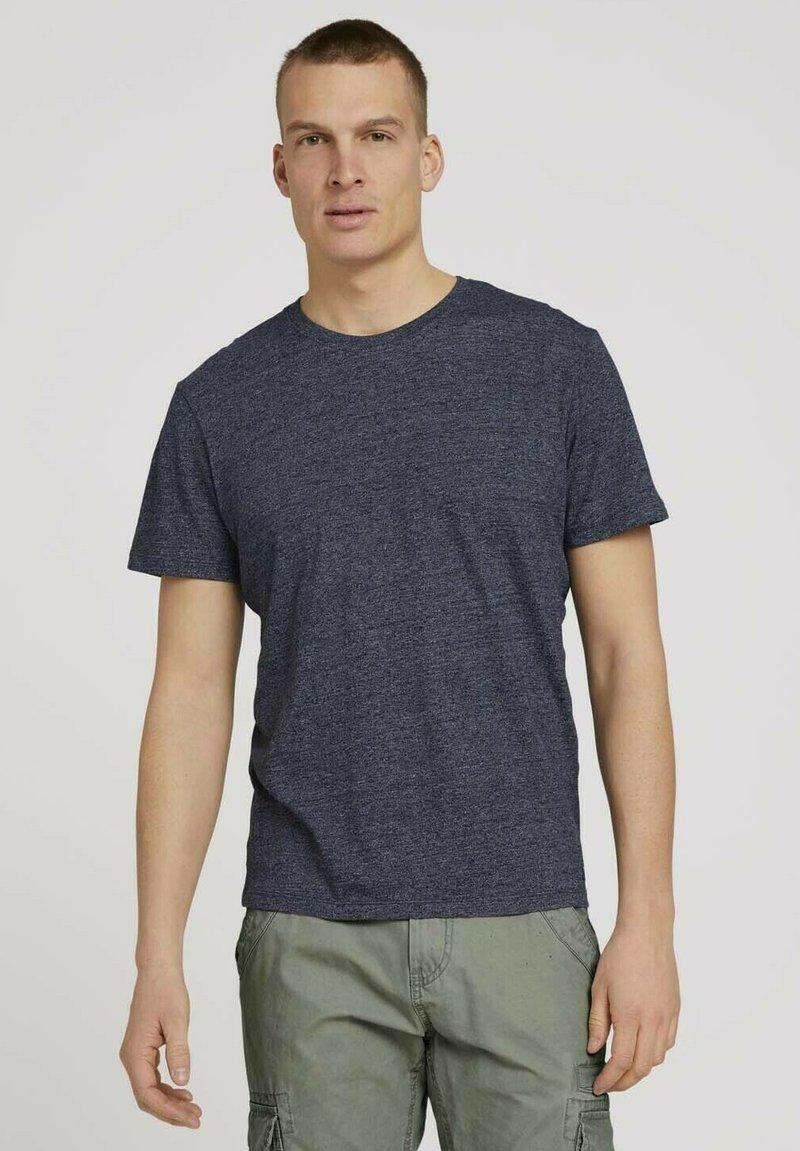 TOM TAILOR - Basic T-shirt - sailor blue grindle melange