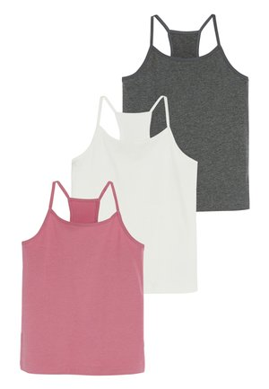 PINK/ECRU/GREY 3 PACK RACER BACK CAMIS (1.5-16YRS) - Top - pink