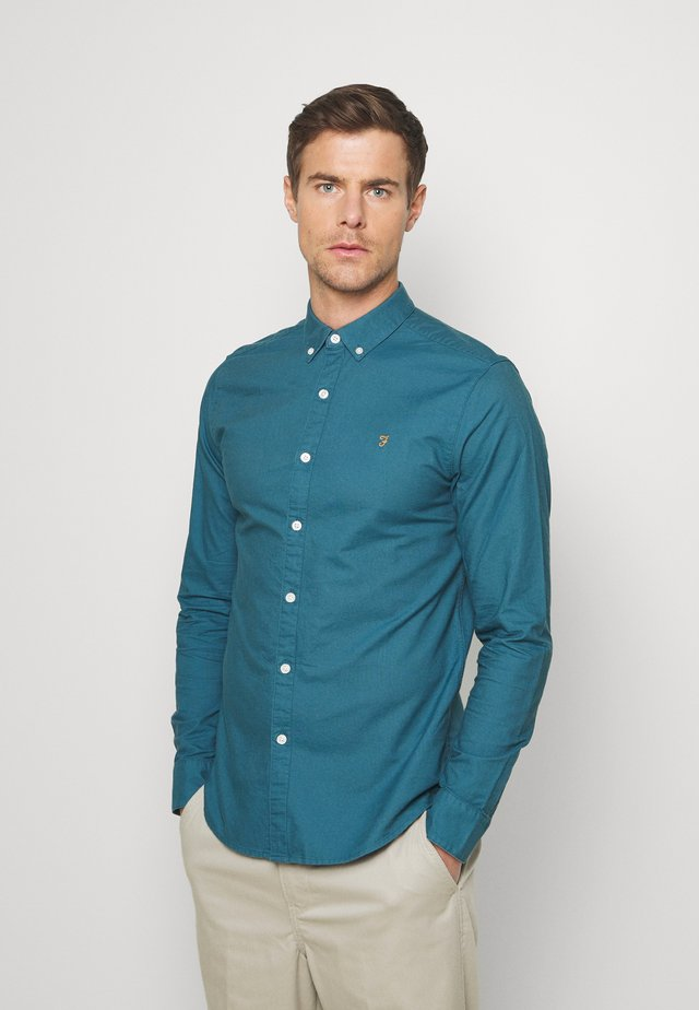 BREWER - Camisa - blue