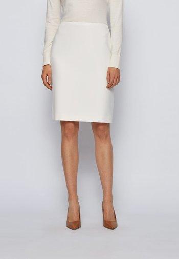 VIKENA - Pencil skirt - natural